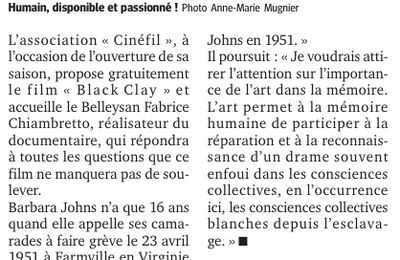 BLACK CLAY fait sa rentrée avec CINÉFIL Belley