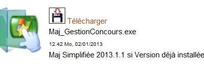 GESTION DE CONCOURS MISE A JOUR 2013