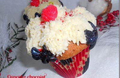 Cupcake au chocolat blanc