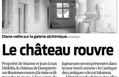 Dampierre-sur-Boutonne - le château rouvre dimanche 18 mars 2012