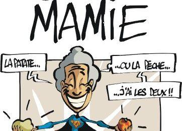 Super-Mamie-Jolie et le béret à godrons...