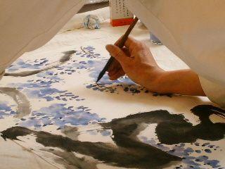 Atelier de peinture chinoise avec l'association Pigments et Arts du Monde