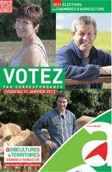 IMPORTANT : Les élections aux Chambres d'agriculture 2013
