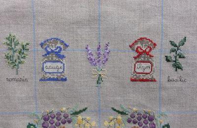 Torchon Provence #16 - Lavande et herbes de Provence