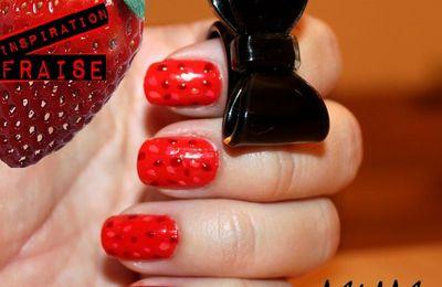 Manucure inspiration fraise