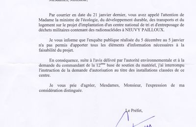 COURRIER DU PREFET
