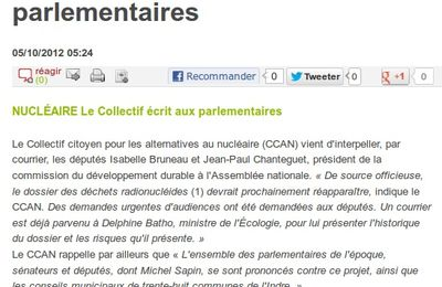 Article NR 5 octobre 2012