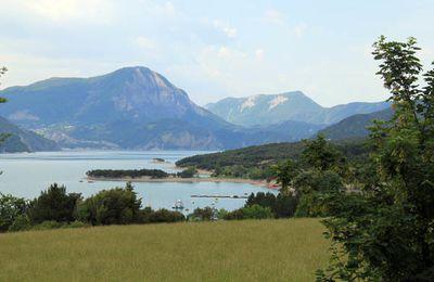 Premières impressions photo du lac de Serre Ponçon (Embrun)