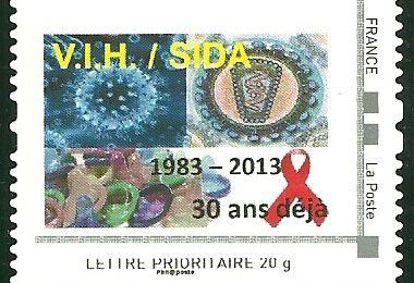 Timbres Personnalisé : V.I.H/SIDA - 1983 - 2013 / 30 ans déjà
