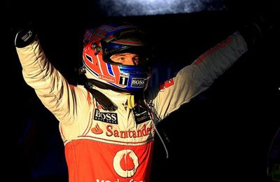 Race: Button Wins Chaotic First Race
