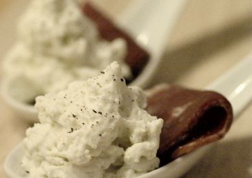 Chantilly au roquefort et magret