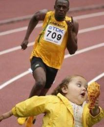 usen bolt, à la poursuite du chicken ! (image)