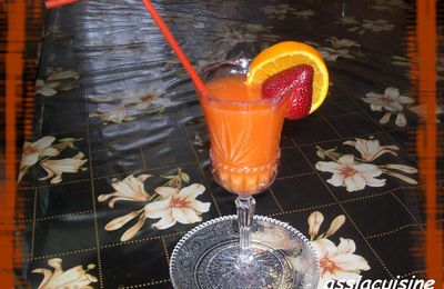 jus d'orange et fraise