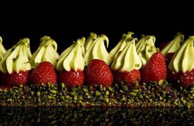 Tarte aux fraises & pistache Michalak
