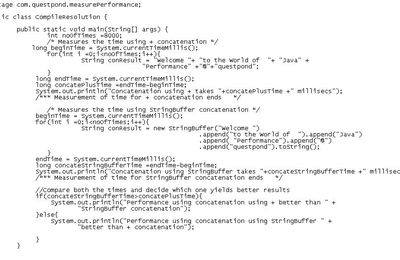 Java/J2EE interview questions: – Is using StringBuffer always yields better performance than concatenation using +?