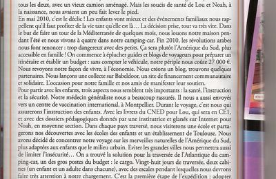 Un article dans le magazine Parents