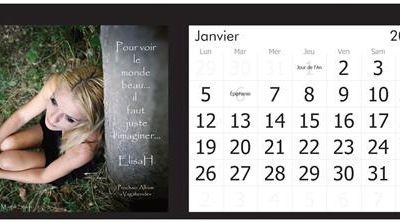 Un calendrier ElisaH 2015