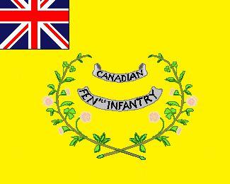 Drapeaux de milices canadiennes