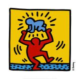 "Keith Haring ""Baby over head"" de 1987"