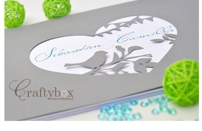 Livre d'or mariage - gris, turquoise, anis | CraftyBox