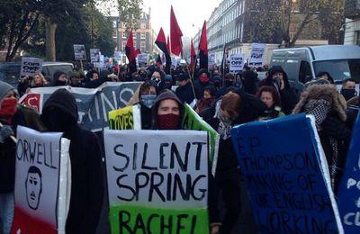 Mercredi 11 décembre 2013, les étudiants descendent sur Londres pour le droit de protester
