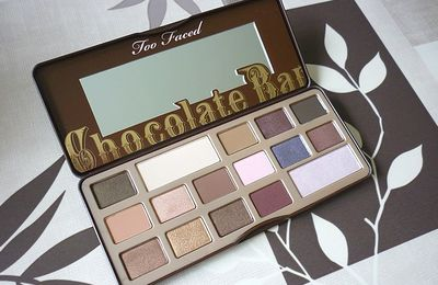 Elle est enfin mienne ! La Palette Chocolate Bar de Too Faced