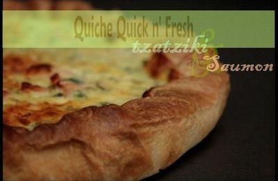 ** Quick n' fresh : Quiche fraîheur au tzatziki ( léger) & saumon fumé **
