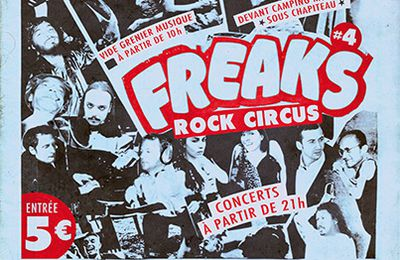 Affiche / Flyer Festival Freak rock circus 2013