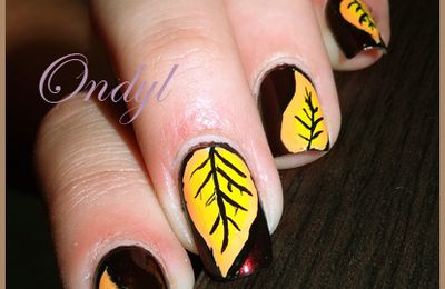 Fall Leaves on Nails