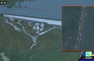 Le plus haut barrage des Etats-Unis menace de céder, les habitants fuient la région
