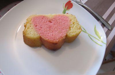 Cake surprise au grand coeur