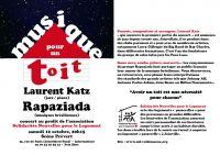 Laurent Katz et Rapaziada : musique pour un toit à Joinville (12/10)