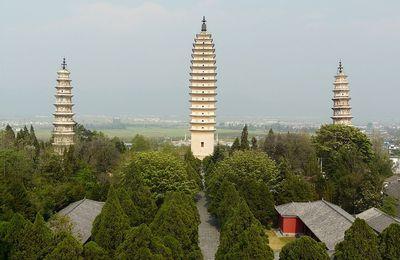 le temple des trois pagodes à Dali