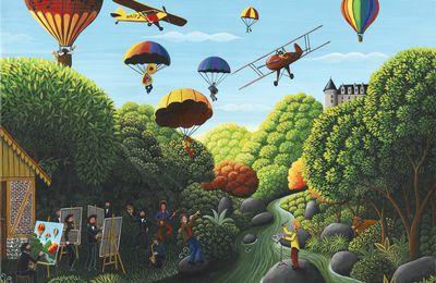 """""""Inspiration venue du ciel - de Saint junien à Rochechouart"""" 41 x 33 cm © Catherine MUSNIER"""