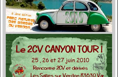 6 eme Edition du 2CV CANYON TOUR !