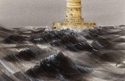PHARE DE CORDOUAN(encre et aquarelle)