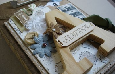 "Nouveau Kitscrap Album Clipboard & Monogramme ""Always"""
