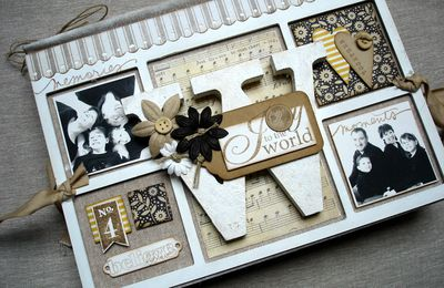 "Nouveau KiitScrap Album Portefeuille ""Joy to the World"""
