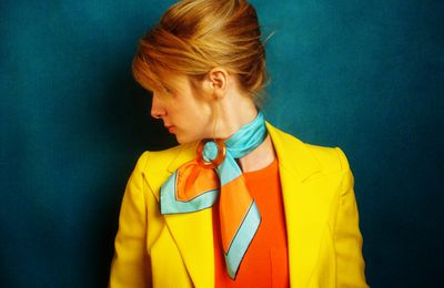 I love silk scarves by Charline Lancel