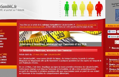 Interview pour le site calculer son IMC