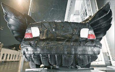 Moldakul Narymbetov voiture en pneus (Kazakhstan)