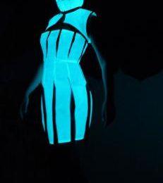 """Robe sans bretelles phosphorescentes avec chambres à air """"Krijnie et Christa"""""""