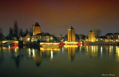 Petite France à Strasbourg la nuit