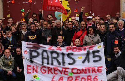 50 jours de grève des facteurs de Paris 15 : un jalon important dans la nationalisation de la lutte pour le service public de La Poste.
