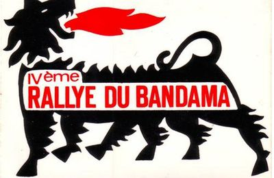 "Autocollant 4ème Rallye Bandama ""AGIP""....."