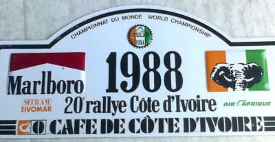 (Collector) Plaque du Rallye Bandama.....