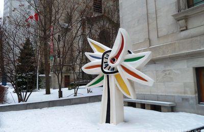 Fleur dans la neige : tournesol de Fernand Léger