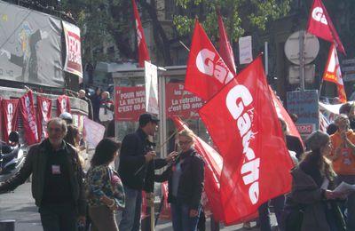 Le Parti de Gauche dans la rue le 28 octobre à Marseille et affiches de manifestation