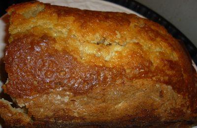 Gâteau au yaourt, à la banane et au nutella.