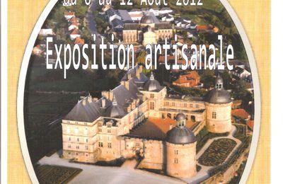 Exposition artisanale à Hautefort (24)